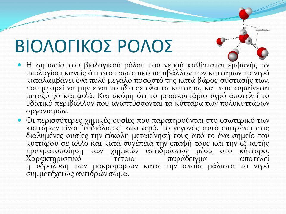 ΒΙΟΛΟΓΙΚΟΣ ΡΟΛΟΣ