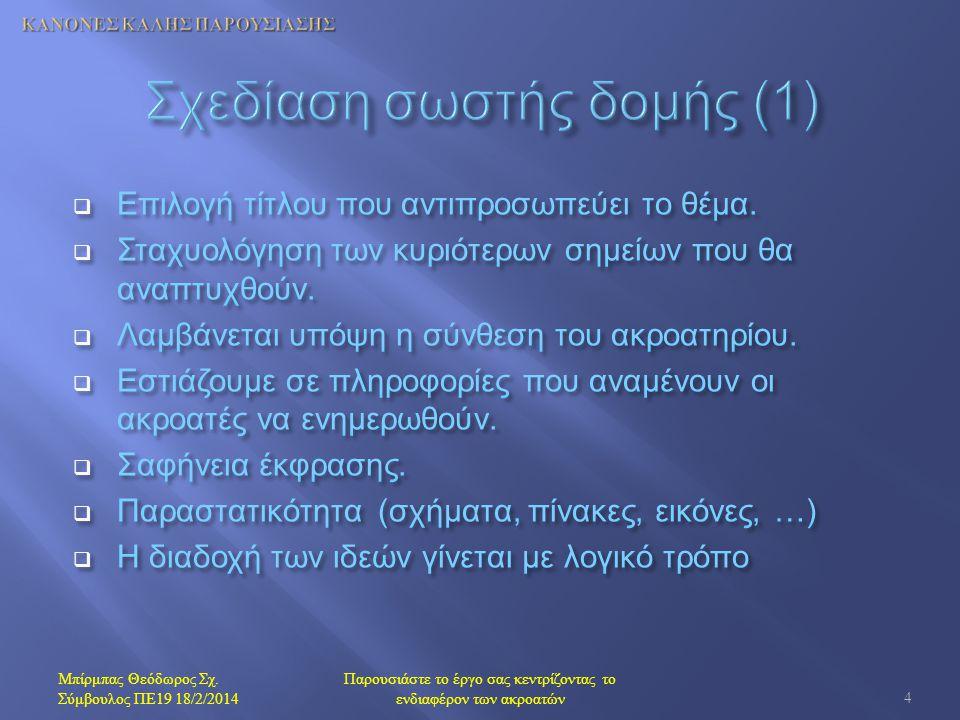Σχεδίαση σωστής δομής (1)