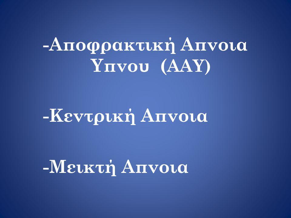 -Αποφρακτική Απνοια Υπνου (AAY)