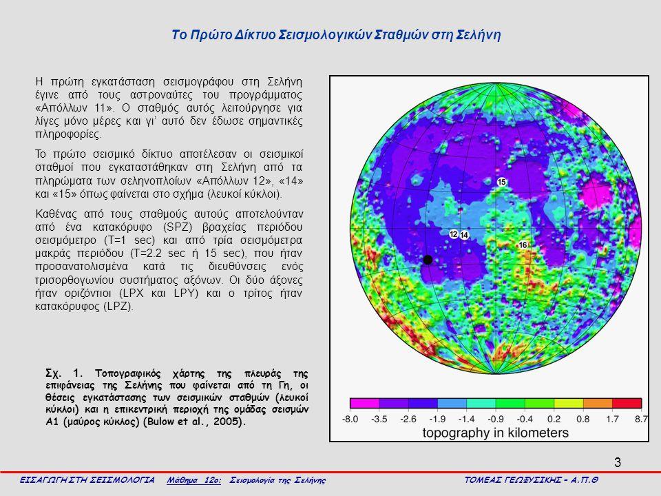 Το Πρώτο Δίκτυο Σεισμολογικών Σταθμών στη Σελήνη