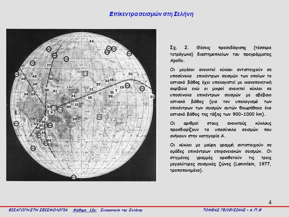 Επίκεντρα σεισμών στη Σελήνη