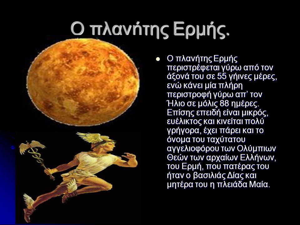 Ο πλανήτης Ερμής.