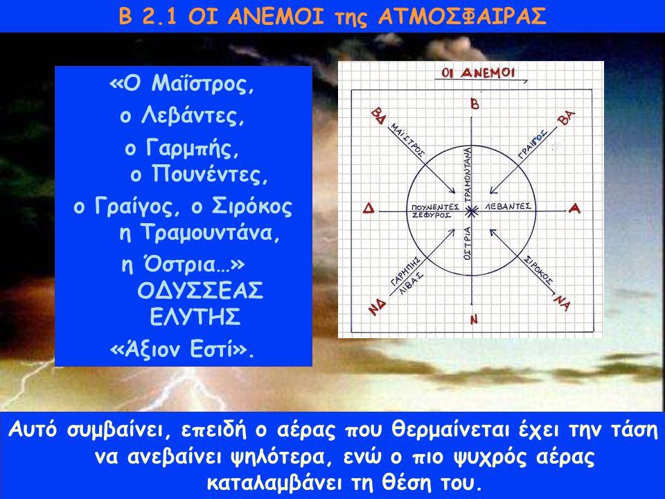 Β 2.1 ΟΙ ΑΝΕΜΟΙ της ΑΤΜΟΣΦΑΙΡΑΣ