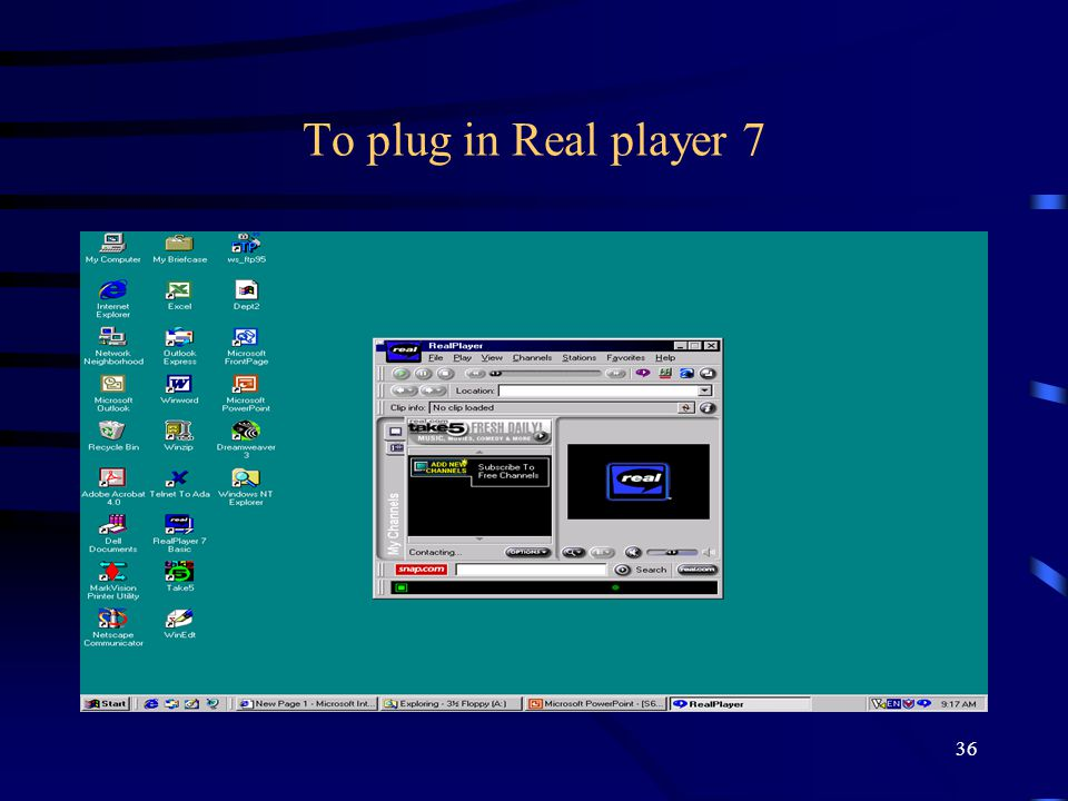 Το plug in Real player 7