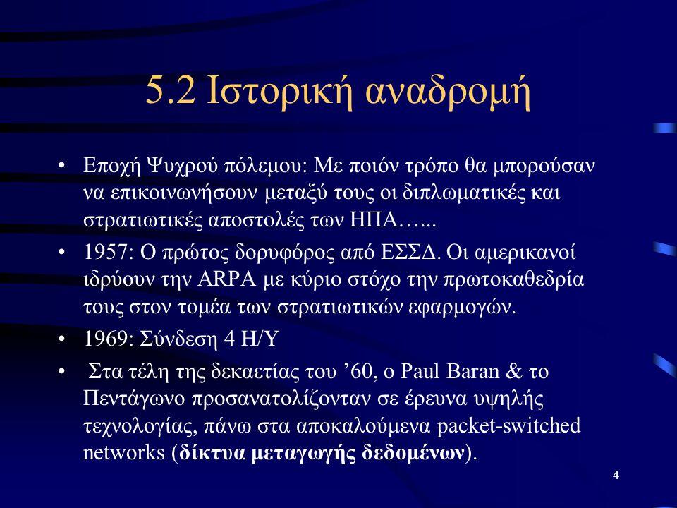 5.2 Ιστορική αναδρομή