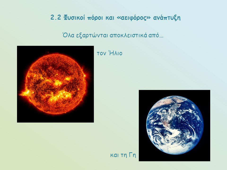 2.2 Φυσικοί πόροι και «αειφόρος» ανάπτυξη