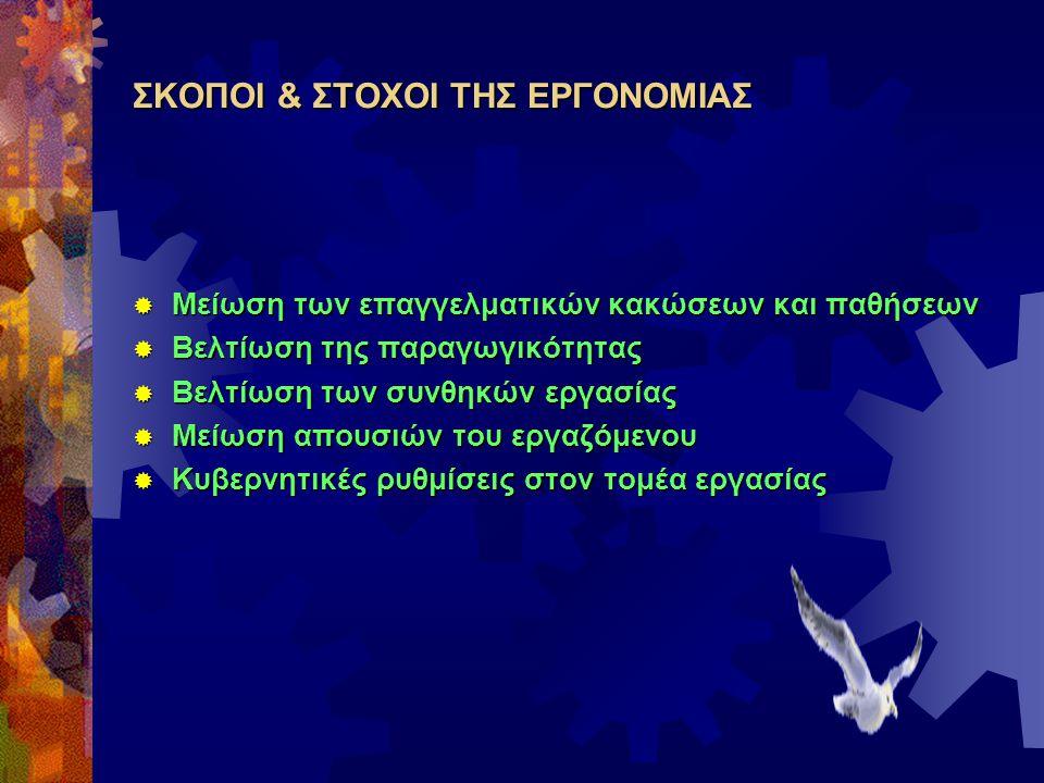 ΣΚΟΠΟΙ & ΣΤΟΧΟΙ ΤΗΣ ΕΡΓΟΝΟΜΙΑΣ