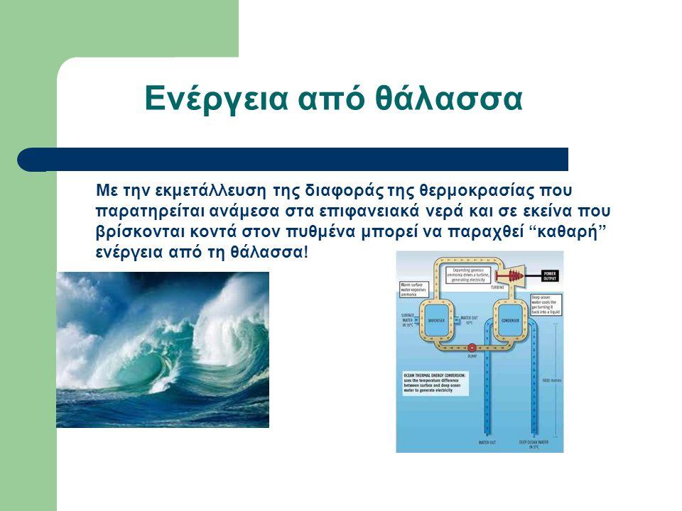 Ενέργεια από θάλασσα