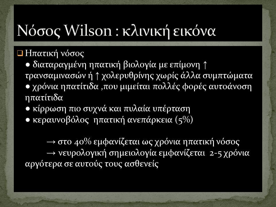 Νόσος Wilson : κλινική εικόνα
