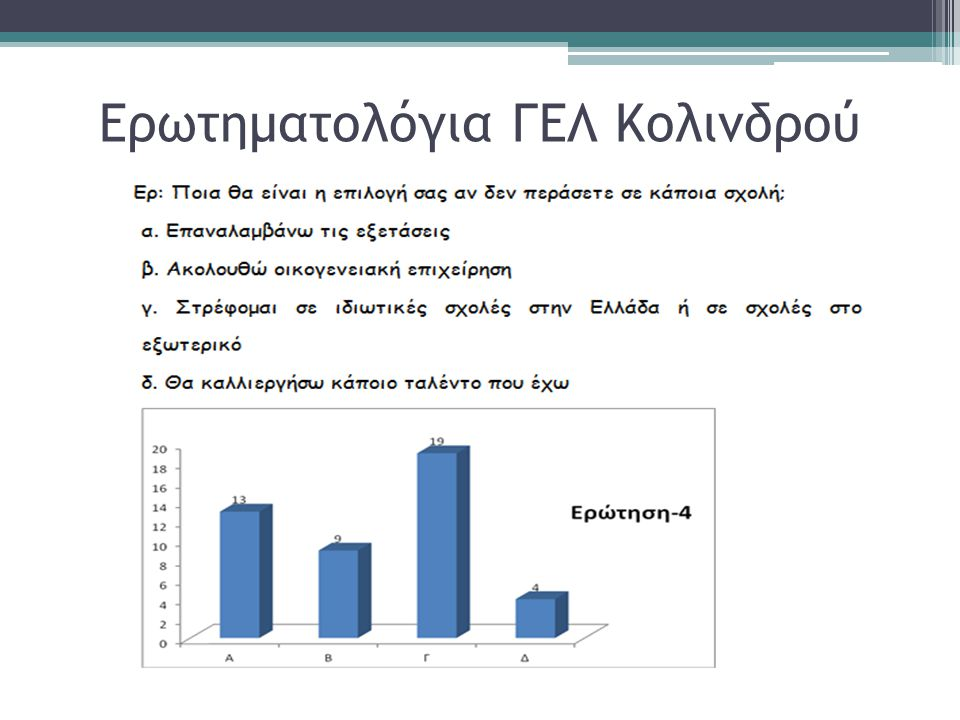 Ερωτηματολόγια ΓΕΛ Κολινδρού