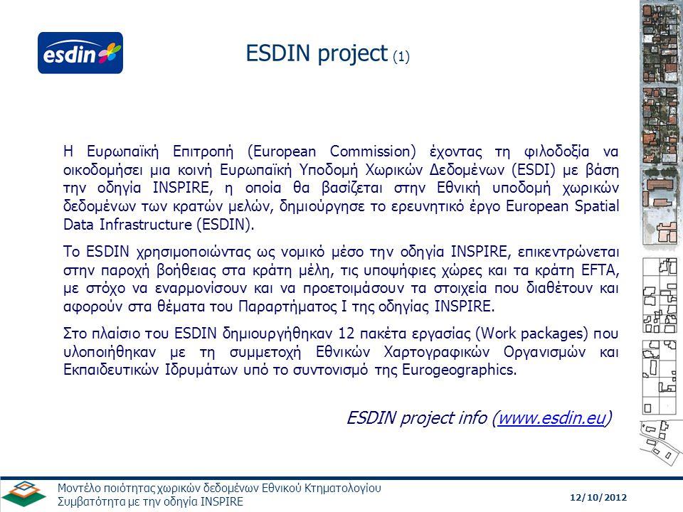 ESDIN project info (www.esdin.eu)
