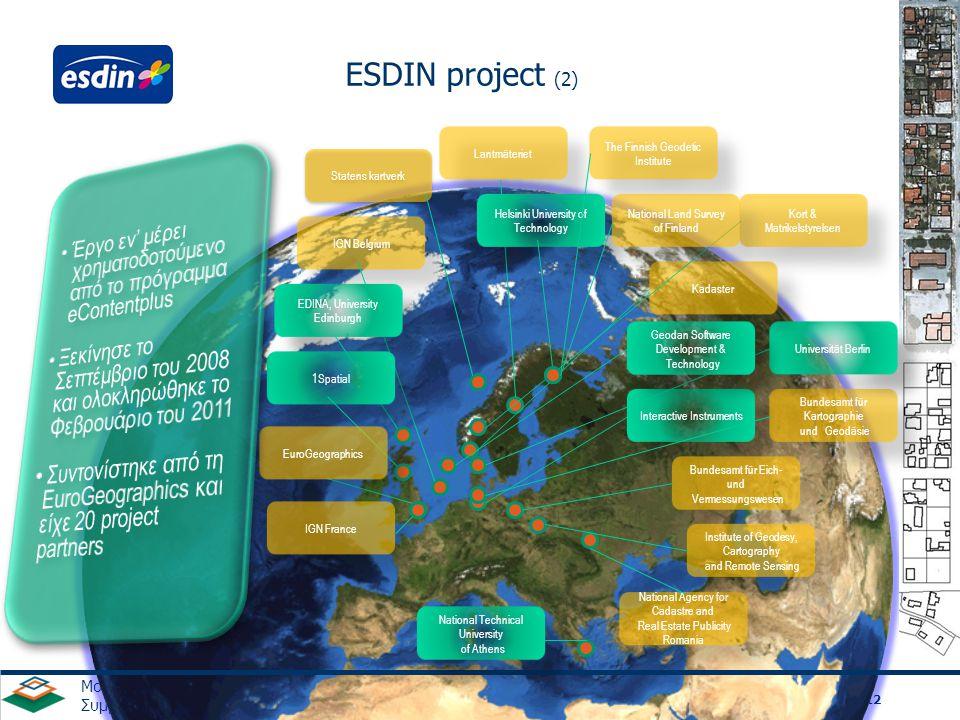 ESDIN project (2) χρηματοδοτούμενο από το πρόγραμμα eContentplus