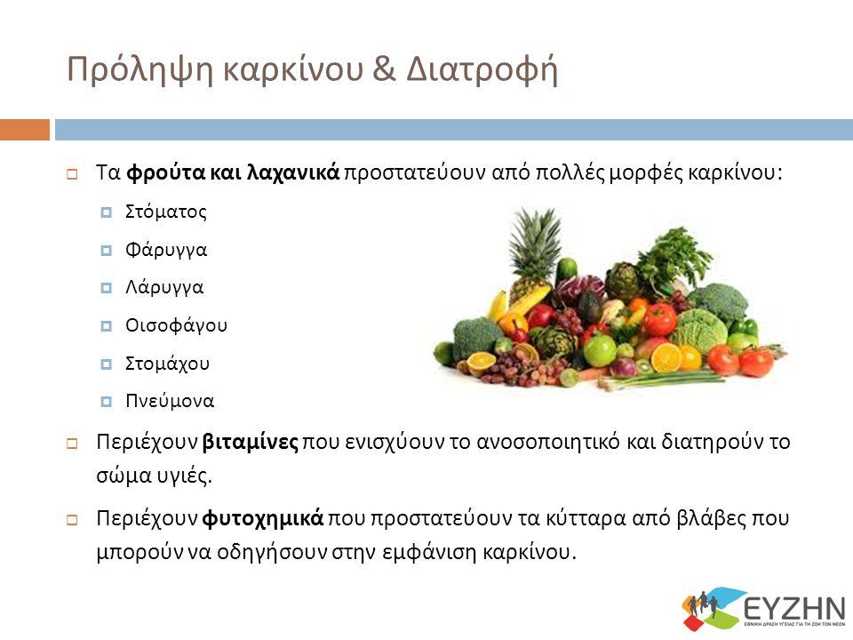Πρόληψη καρκίνου & Διατροφή