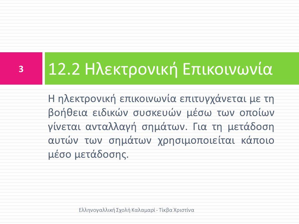 12.2 Ηλεκτρονική Επικοινωνία