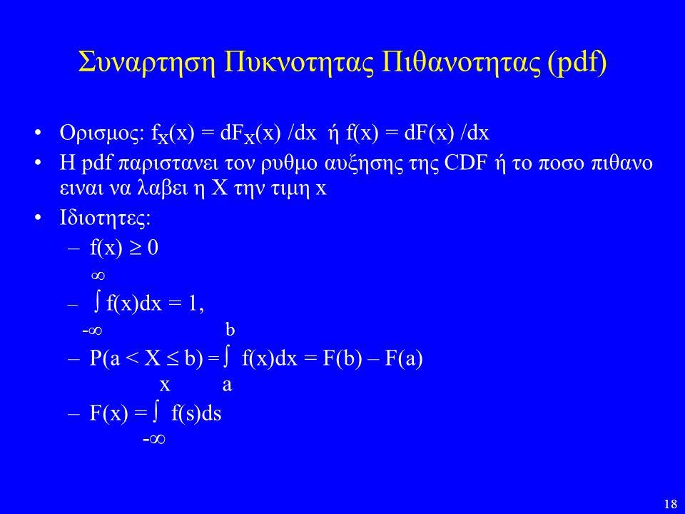 Συναρτηση Πυκνοτητας Πιθανοτητας (pdf)
