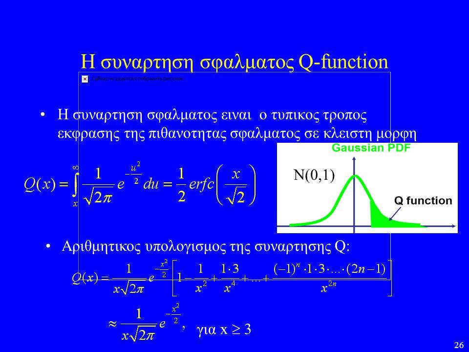 Η συναρτηση σφαλματος Q-function