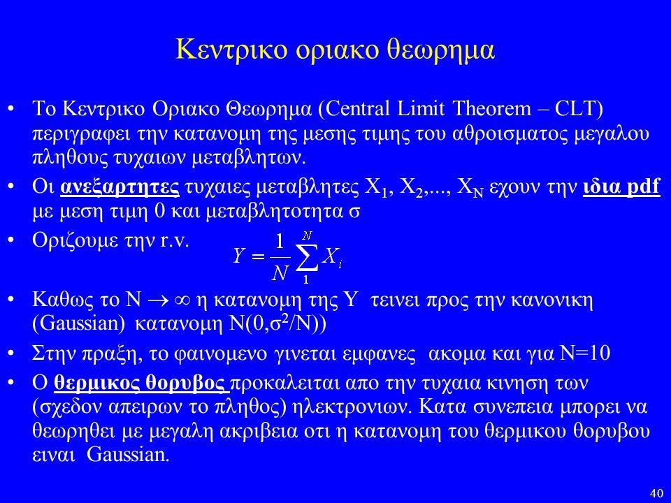 Κεντρικο οριακο θεωρημα