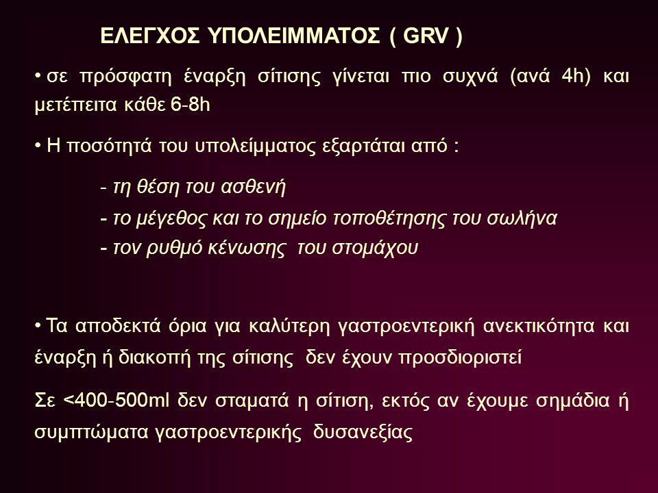 ΕΛΕΓΧΟΣ ΥΠΟΛΕΙΜΜΑΤΟΣ ( GRV )