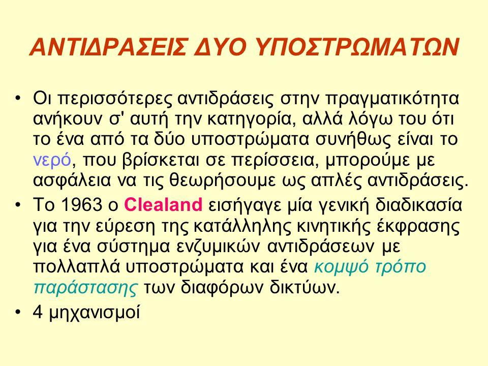 ΑΝΤΙΔΡΑΣΕΙΣ ΔΥΟ ΥΠΟΣΤΡΩΜΑΤΩΝ