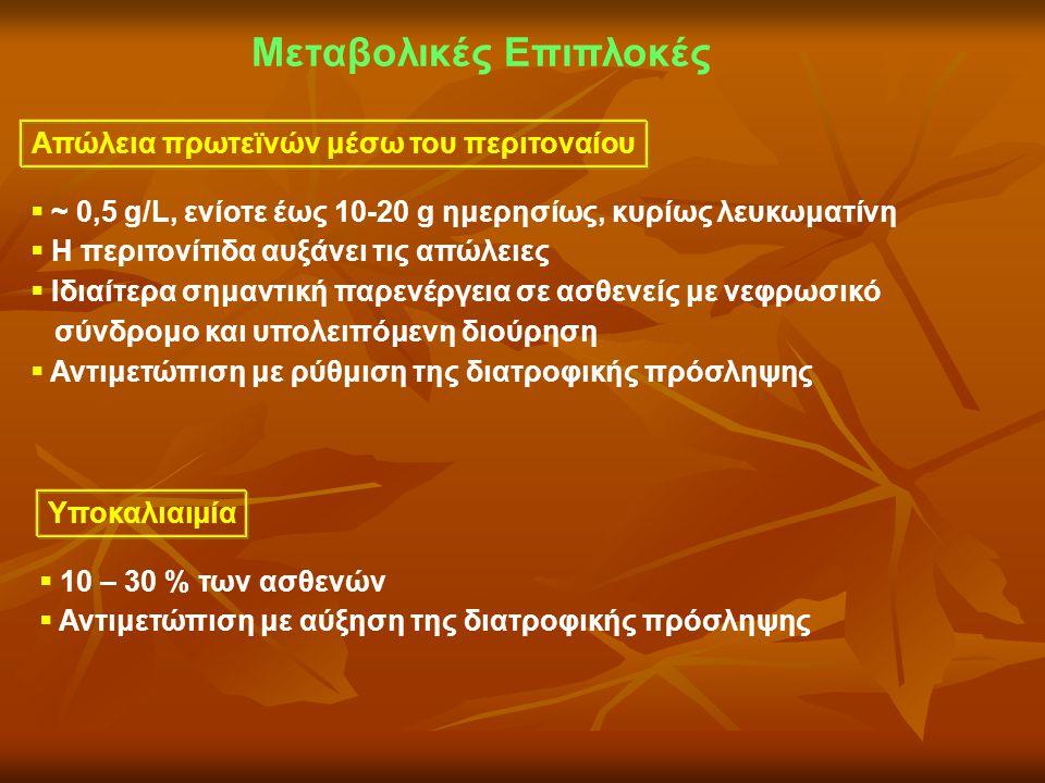 Μεταβολικές Επιπλοκές Απώλεια πρωτεϊνών μέσω του περιτοναίου