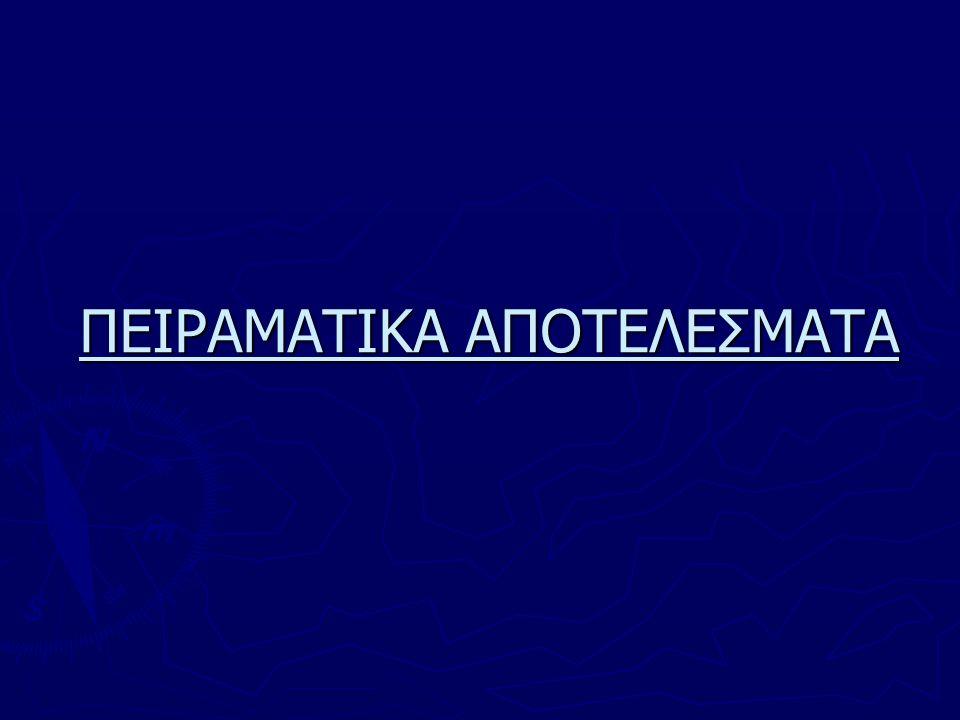 ΠΕΙΡΑΜΑΤΙΚΑ ΑΠΟΤΕΛΕΣΜΑΤΑ