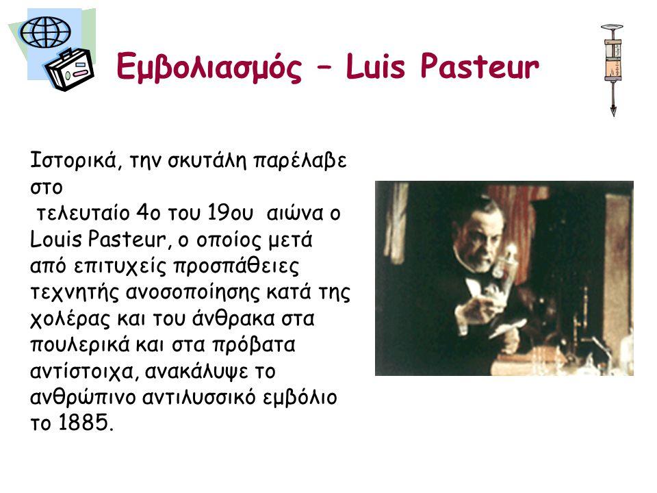 Εμβολιασμός – Luis Pasteur