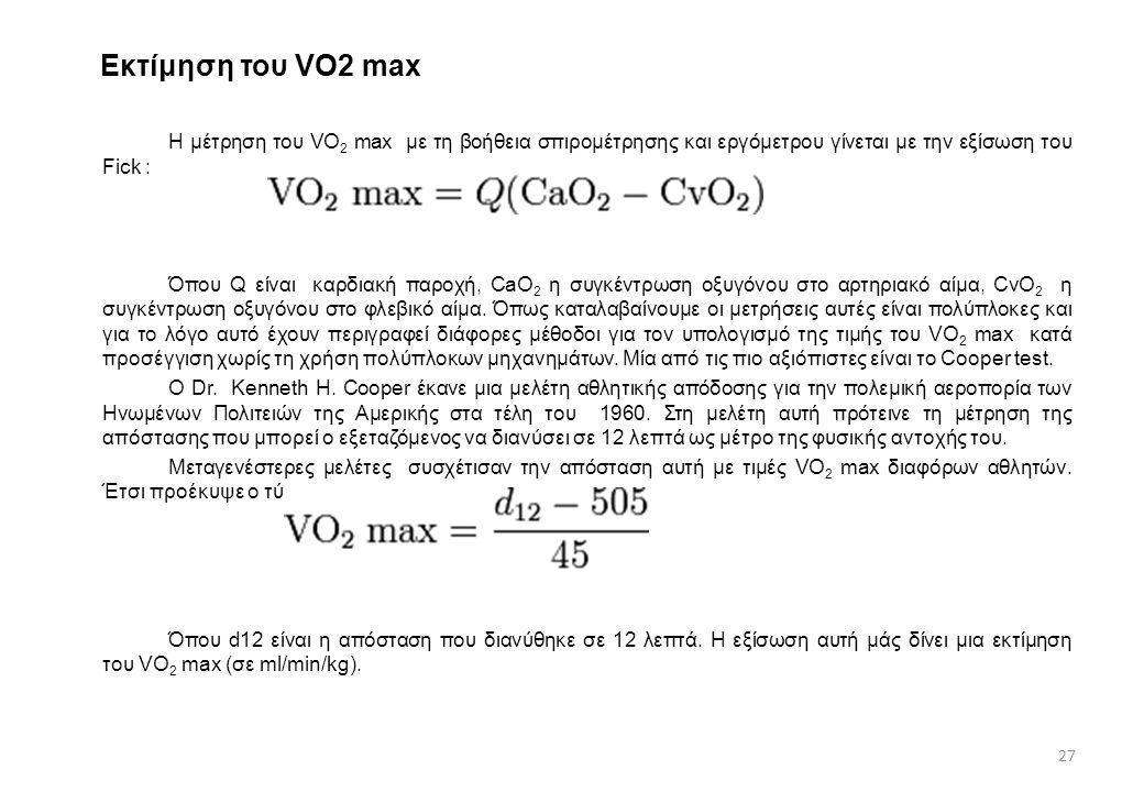 Εκτίμηση του VO2 max