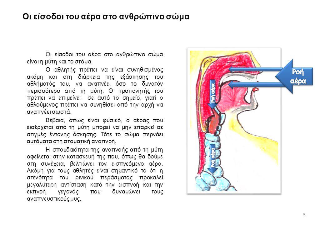 Οι είσοδοι του αέρα στο ανθρώπινο σώμα