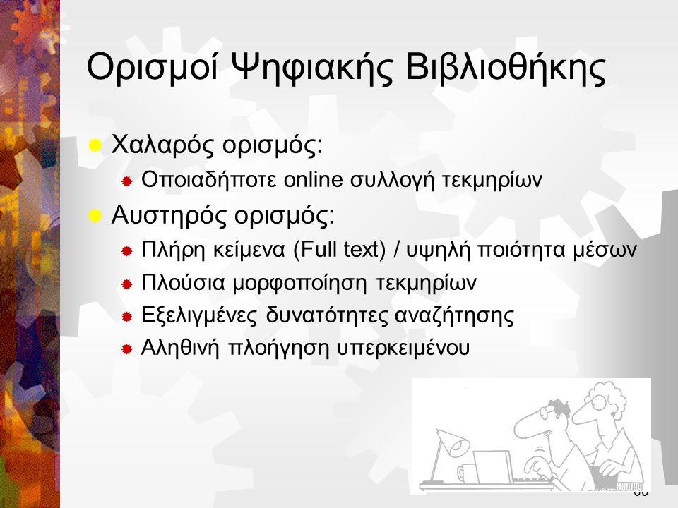 Ορισμοί Ψηφιακής Βιβλιοθήκης