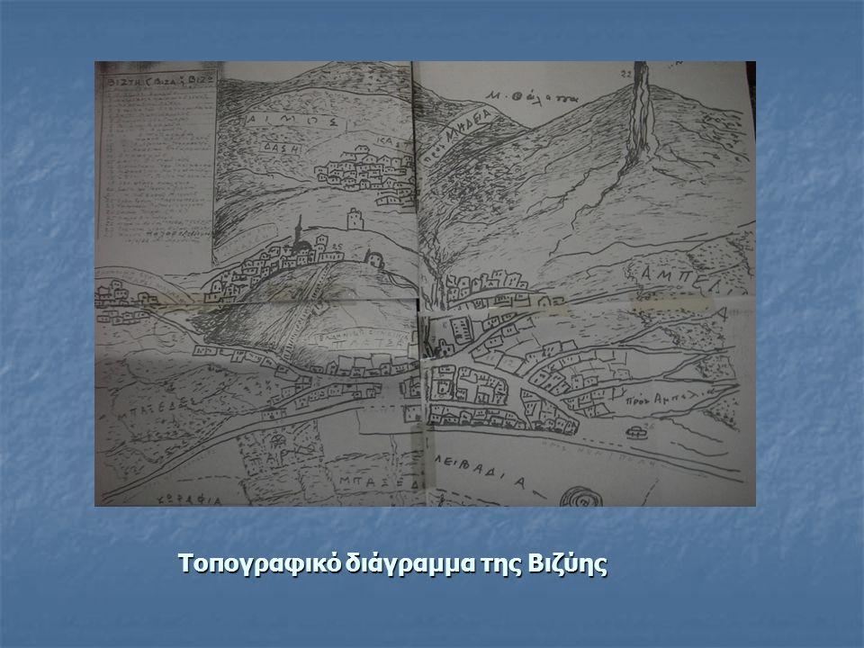 Τοπογραφικό διάγραμμα της Βιζύης