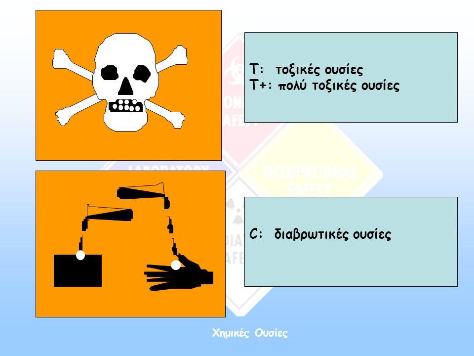 Τ+: πολύ τοξικές ουσίες