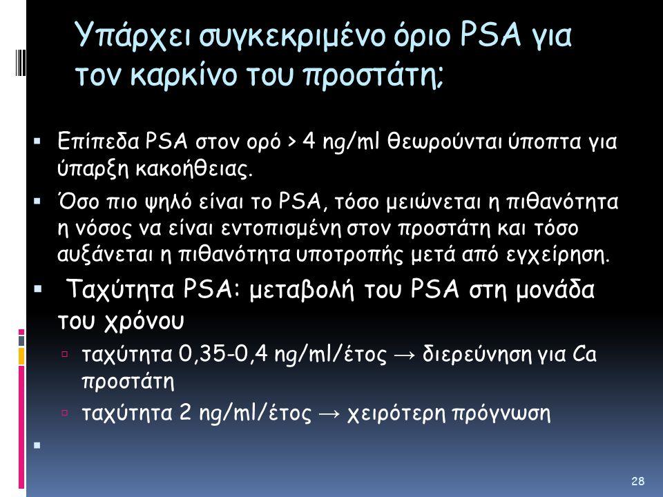Υπάρχει συγκεκριμένο όριο PSA για τον καρκίνο του προστάτη;