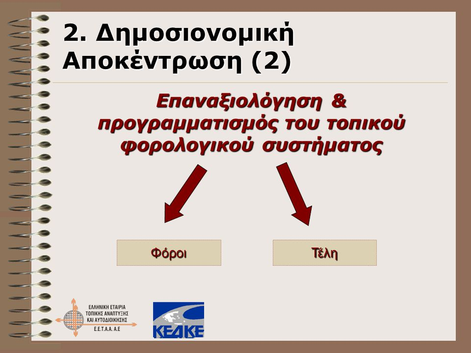2. Δημοσιονομική Αποκέντρωση (2)