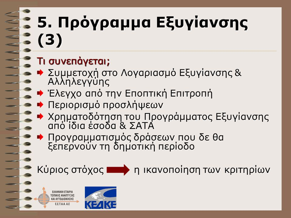 5. Πρόγραμμα Εξυγίανσης (3)