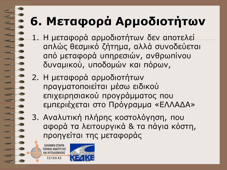 6. Μεταφορά Αρμοδιοτήτων