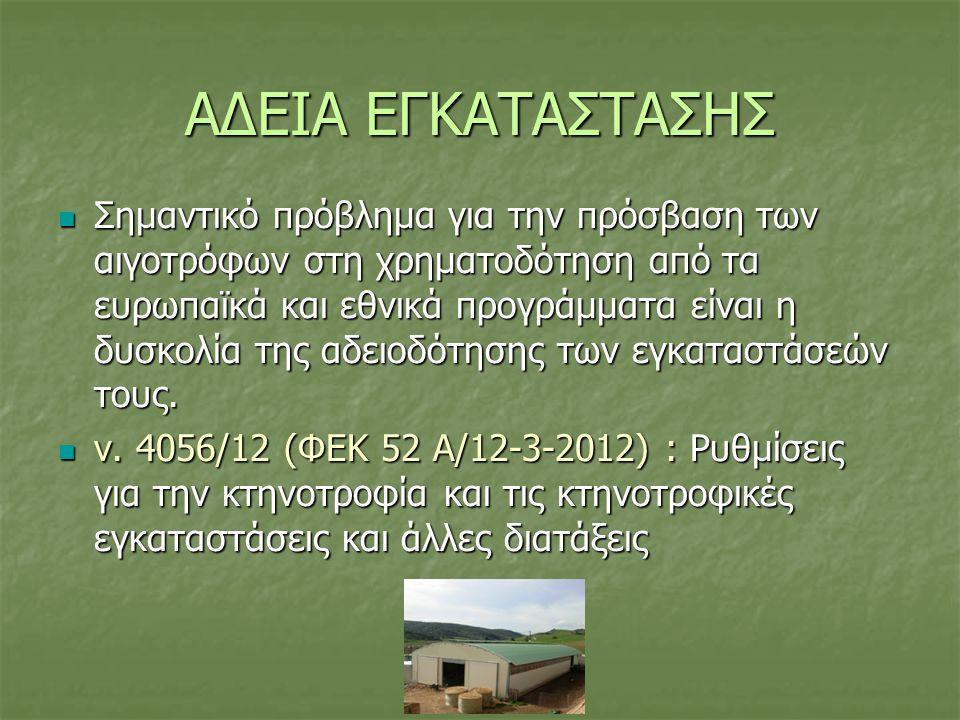 ΑΔΕΙΑ ΕΓΚΑΤΑΣΤΑΣΗΣ