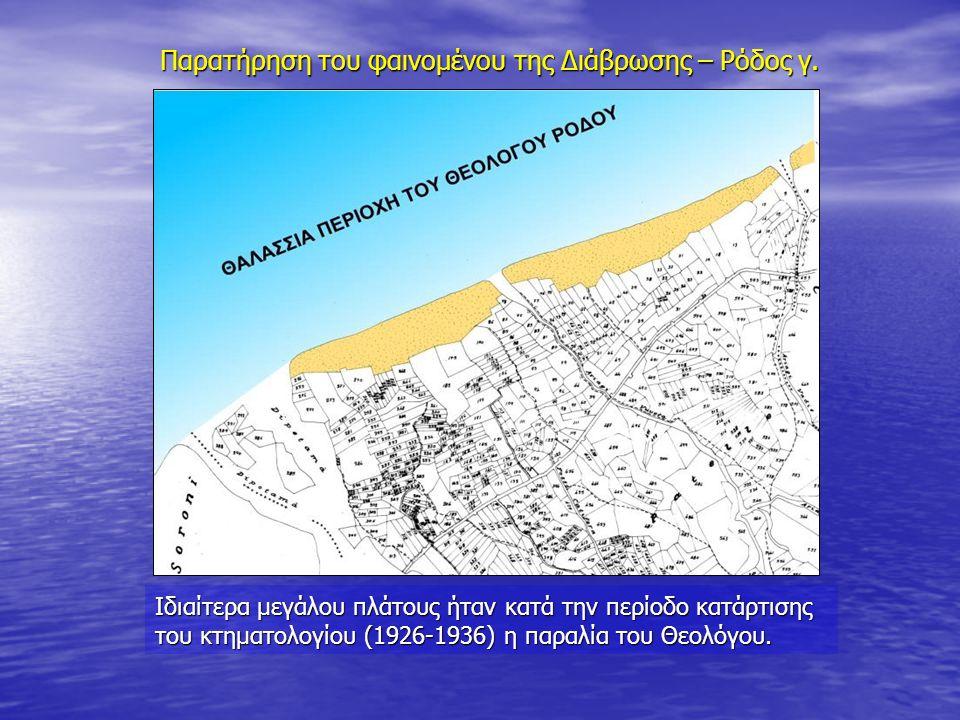 Παρατήρηση του φαινομένου της Διάβρωσης – Ρόδος γ.