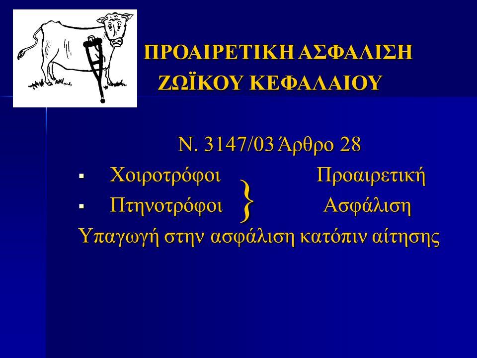 } ΠΡΟΑΙΡΕΤΙΚΗ ΑΣΦΑΛΙΣΗ ΖΩΪΚΟΥ ΚΕΦΑΛΑΙΟΥ Ν. 3147/03 Άρθρο 28