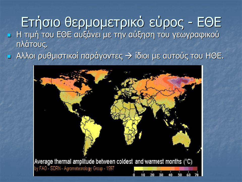 Ετήσιο θερμομετρικό εύρος - ΕΘΕ