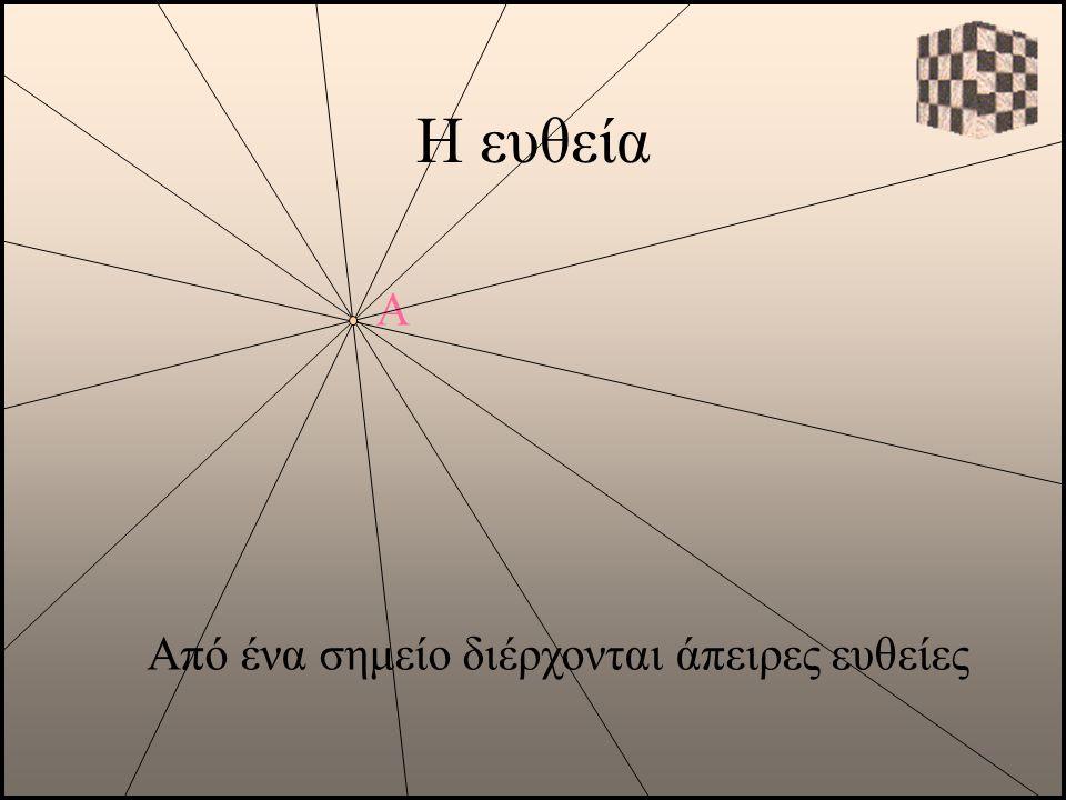 Από ένα σημείο διέρχονται άπειρες ευθείες