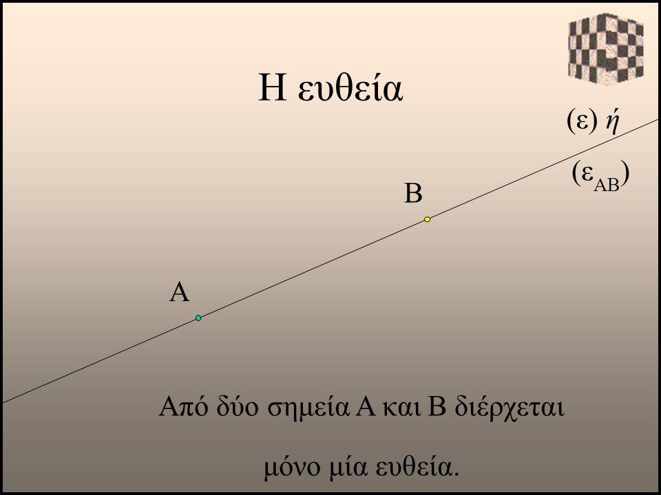 Από δύο σημεία Α και Β διέρχεται