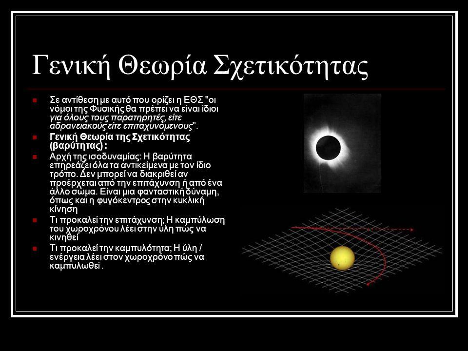 Γενική Θεωρία Σχετικότητας