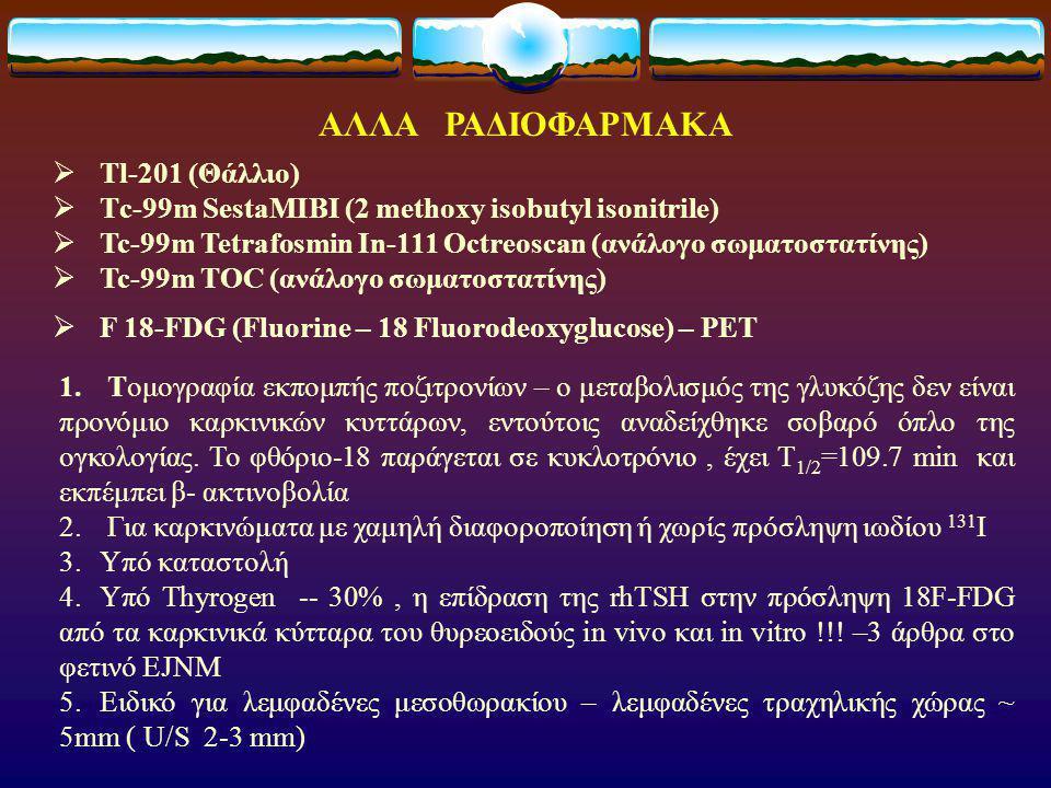 ΑΛΛΑ ΡΑΔΙΟΦΑΡΜΑΚΑ Tl-201 (Θάλλιο)