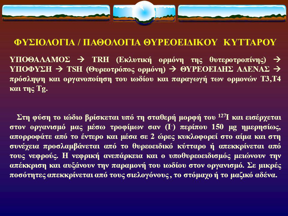 ΦΥΣΙΟΛΟΓΙΑ / ΠΑΘΟΛΟΓΙΑ ΘΥΡΕΟΕΙΔΙΚΟΥ ΚΥΤΤΑΡΟΥ