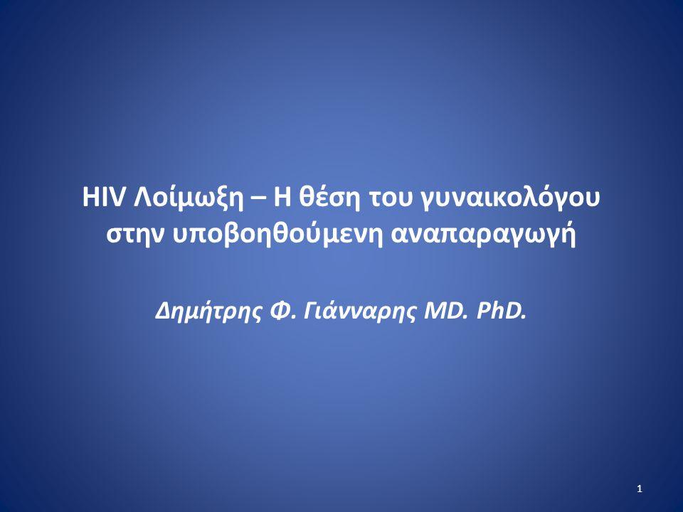 HIV Λοίμωξη – Η θέση του γυναικολόγου στην υποβοηθούμενη αναπαραγωγή