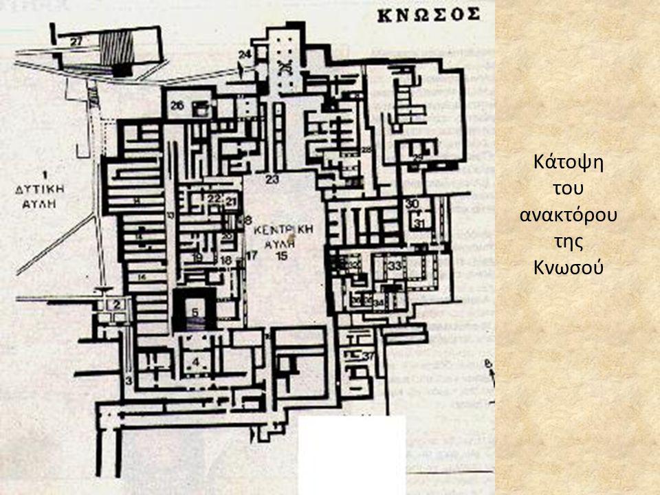Κάτοψη του ανακτόρου της Κνωσού
