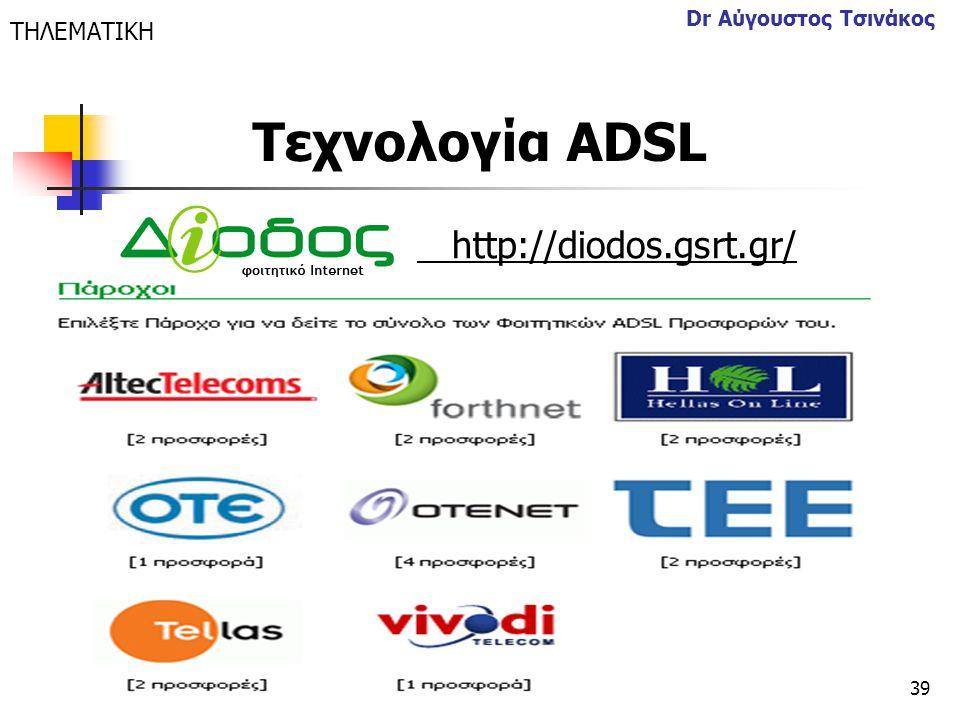 Τεχνολογία ΑDSL http://diodos.gsrt.gr/ ΤΗΛΕΜΑΤΙΚΗ