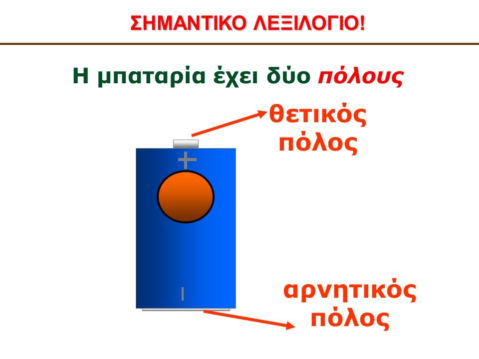 Η μπαταρία έχει δύο πόλους