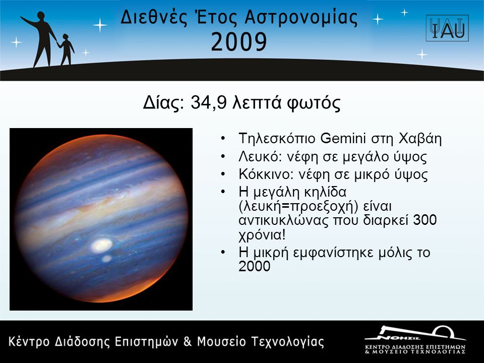 Δίας: 34,9 λεπτά φωτός Τηλεσκόπιο Gemini στη Χαβάη