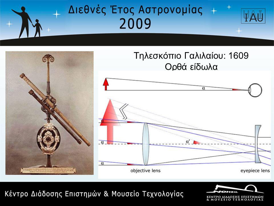 Τηλεσκόπιο Γαλιλαίου: 1609 Ορθά είδωλα